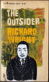 best wright images richard wright native richard wright gouache and ink portrait on vintage paperback the outsider by familystyle