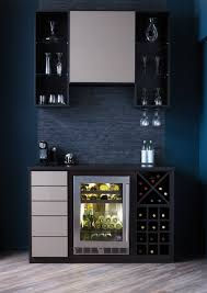 mini wine bar in modern style with black and white wine storage systems black mini bar home