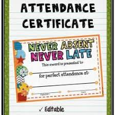 free perfect attendance certificate customize 48 attendance certificate 290722550424 free perfect
