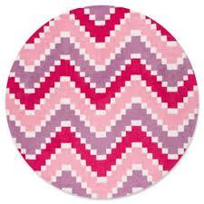 round pink rug. Momeni Heavenly Chevron 4\u0027 Round Area Rug In Pink