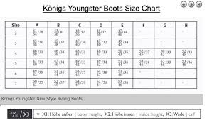 Petrie Dressage Boots Size Chart Konig Boots Size Chart The Best Boots In The World