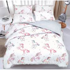 northern threadz unicorn polycotton duvet cover set with pillow cases bedding sets single on on