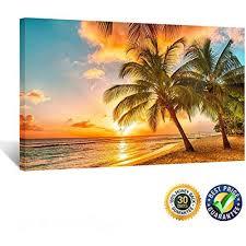 sunset beach framed wall art