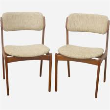teak dining chair contemporary o d mobler set of dining chairs in teak and wool erik buch