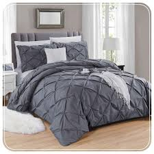 handmade embroidered grey duvet covers