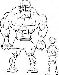 Fabulous Kleurplaat David En Goliath At Orc69 Agneswamu In David En