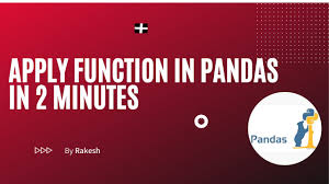 apply function in pandas you