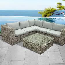 poly rattan corner outdoor sofa set