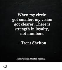 Trent Shelton Quotes Cool When My Circle Got Smaller My Vision Got Clearer There Is Strength