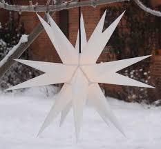 Led Melchior Outdoor Ii Weiß 3d Außenstern ø 60 Cm Mit 20 Spitzen Inkl 4 M Außenkabel Weiß Plastik Weihnachtsstern Adventsstern