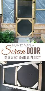 this shows how to make a simple screened patio door using basic tools and lumber
