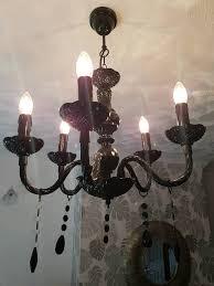 black chandelier light fixture 5 arm
