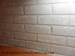 painting brick whiteBudget friendly painted brick backsplash at The Everyday Home