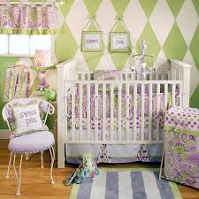 girls crib bedding set modern lavender green paisley 4p easy with regard to brilliant residence paisley crib bedding sets remodel