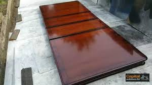 How to clean lacquer furniture Design High Gloss Table Acid Polished Lacquer Refinishing Veneered Table Top Youtube Youtube High Gloss Table Acid Polished Lacquer Refinishing Veneered Table