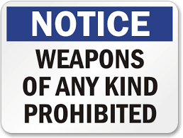 Prohibited K-1211 No Signs Sku Weapons