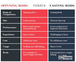 Difference Between Casting Rod And Spinning Rod Difference