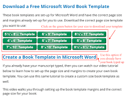 Book Template Free Book Templates For Word Other Programs