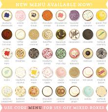 9 Menu Flavors Cupcakes Photo Cupcake Cake Flavors List Cupcake