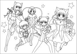 Manga Coloring Pages Coloringsuitecom
