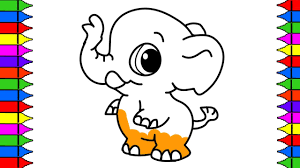Small Picture Coloring Pages Baby Elephant Drawing Baby Animals Art Colours