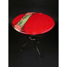 red round table 17 94 inches diam
