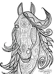 Derby Horse Head Coloring Page Pages Of Horses Jumping Printable