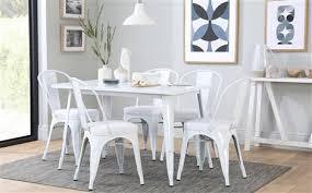 dining room furniture white. kew 120cm white metal dining table - with 4 chairs room furniture