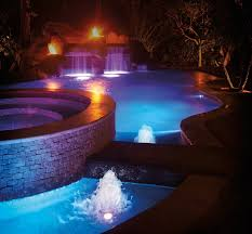 pool waterfall lighting. It\u0027s A Challenge Designers And Builders Face Every Time They Work With Raised Spas, Waterfalls Pool Waterfall Lighting
