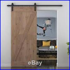 5 18ft j style single sliding barn door hardware flat track kit closet black