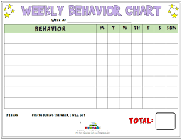 Weekly Behavior Chart Weekly Behavior Chart Best Picture Of Chart Anyimage Org
