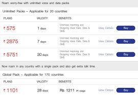 Idea Internet Recharge Chart Reliance Jio International Roaming Recharge Packs Priced