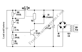 lead acid battery charger circuit diagram lead simple battery charger circuit diagram simple auto wiring on lead acid battery charger circuit diagram