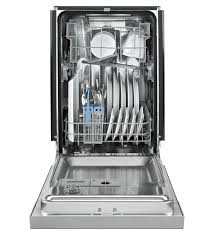 Small Dish Washer Wdf518safm Whirlpool 18 Compact Built In Dishwasher Monochromatic