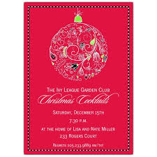 Lovely Lace Ornament Christmas Invitations