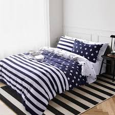 full size reversible bedding sets unusual dark blue and white monogrammed rugby stripe and plus sign print teen boys 100
