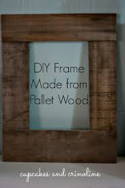 Homemade Rustic Picture Frames Best 25 Pallet Picture Frames Ideas Only On Pinterest Pallet