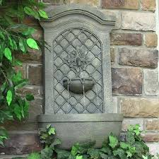 solar powered wall mount water fountain