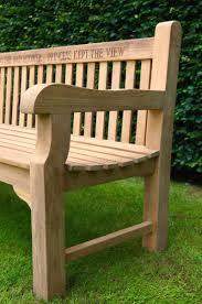 memorial wooden garden bench