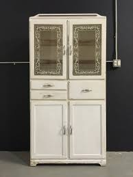 vintage 1940s tall medicine cabinet glass doors white