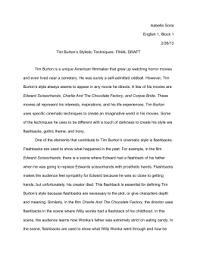 tim burton style analysis film essay tim burton essay 2x