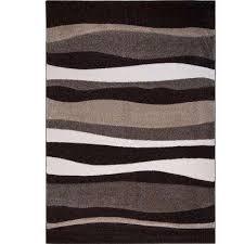 bazaar zag dark brown 8 ft x 10 ft indoor area rug