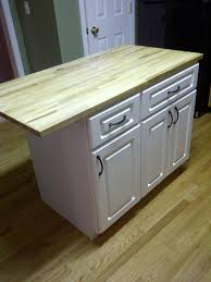 DIY Kitchen island... cheap kitchen cabinets and a countertop ...