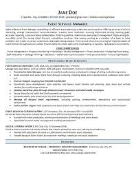 Event Manager Resume Example Event Planning Services