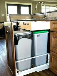 D Trash Slide Out Cabinet Pull Garbage Kitchen  Small Under Sink Can Google Search