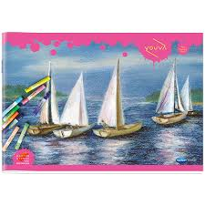 youva navneet pink drawing book soft bound mini size 17 cm x 24 5 cm 16 pages
