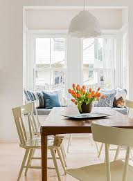 orange tulips for the dining table