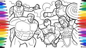 Hulk avengers coloring page see also our collection of coloring pictures below. Avengers Coloring Pages Coloring The Avengers Squad Spiderman Iron Man Hulk Captain America Youtube
