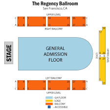 Regency Ballroom Seating Chart The Regency Ballroom San Francisco Tickets Schedule