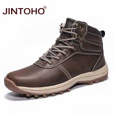JINTOHO Winter Mens Ankle Boots Warm <b>Men Snow Boots Fashion</b> ...